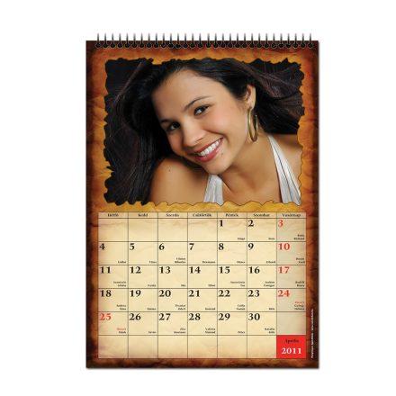 A/4 fali naptár