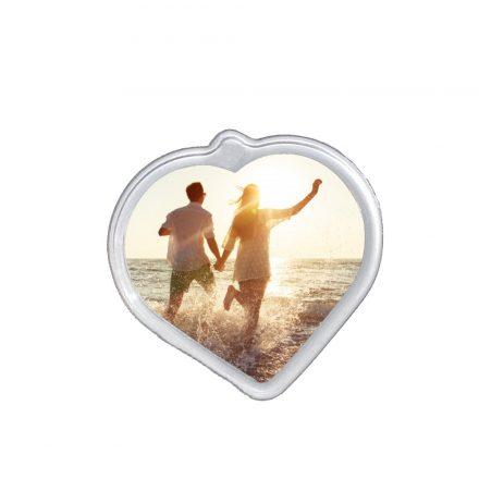 Szív alakú plexi hűtőmágnes