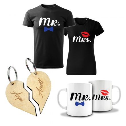 Valentin napi páros csomag Mr. & Mrs.