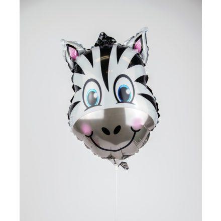 Zebra formájú fólia léggömb
