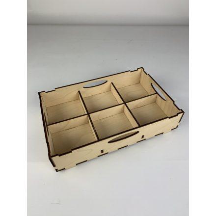 Fából készült tároló tálca