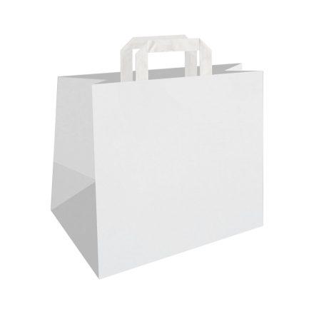 Szalagfüles papírtáska 32x17x27 cm két színben