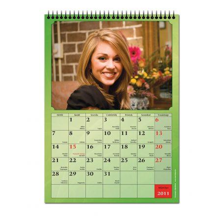 A/3 fali naptár
