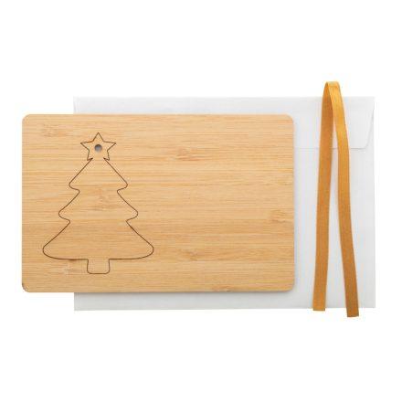 Karácsonyi üdvözlőkártya fenyőfával