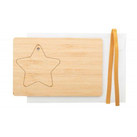 Karácsonyi üdvözlőkártya csillaggal