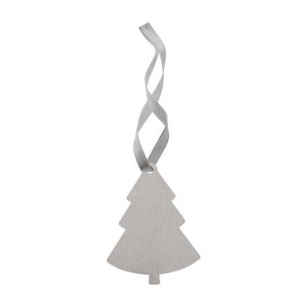 Nemesacél karácsonyi dísz fenyőfa