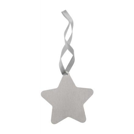 Nemesacél karácsonyi dísz Csillag