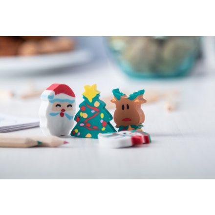 Karácsonyi radír szett dísztasakban