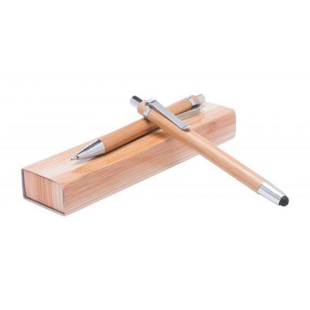 Érintőképernyős bambusz toll szett díszdobozban