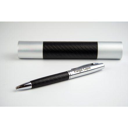 Gravírozható fém toll műbőr borítással díszhengerben (utolsó darab)