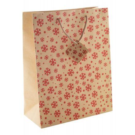 Kraft papír karácsonyi papírtáska (260x330x120mm)