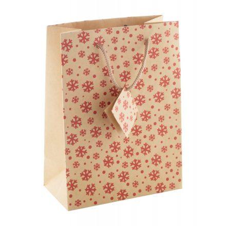 Kraft papír karácsonyi papírtáska (170x230x90mm)