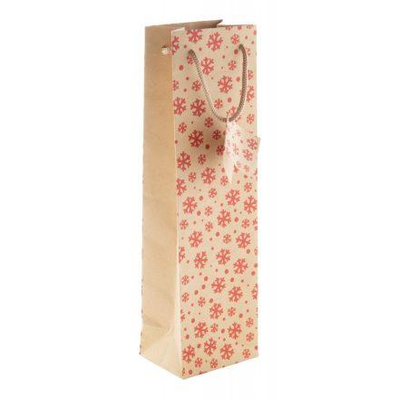 Kraft papír karácsonyi papírtáska (100x350x80mm)